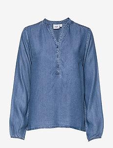U1093, SaraSZ LS Shirt - langærmede bluser - smoke b.