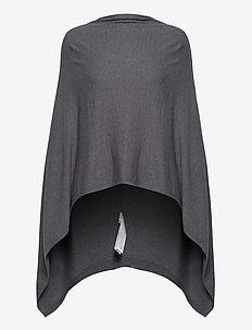 U2556, PONCHO - ponchos & capes - grey iron melange