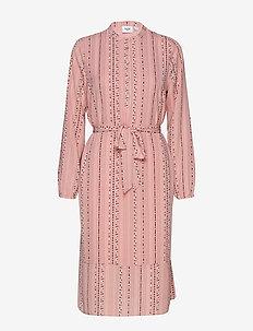 U6000, WOVEN DRESS BELLOW KNEE - P.ROSE