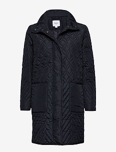 U7013, Quilted Jacket - BLUE DEEP