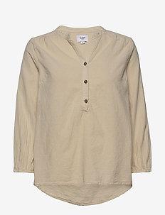 KateSZ Blouse - long sleeved blouses - sandshell