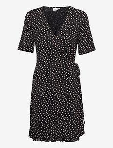 MinaSZ Wrap Dress Above Knee - zomerjurken - dot black