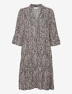 EdaSZ Dress - hverdagskjoler - ombre blue zig zebra