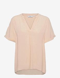 AgnesSZ SS Top - short-sleeved blouses - creme