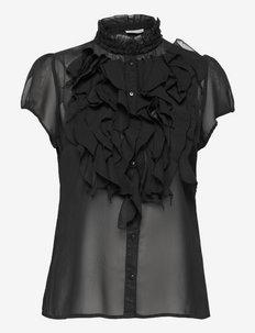 LillySZ SS Shirt - kortærmede bluser - black