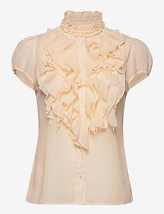 LillySZ SS Shirt - kortärmade skjortor - creme