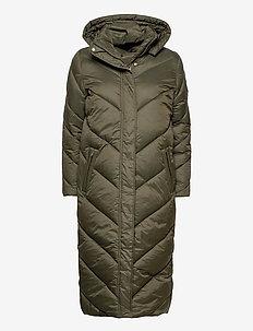 CatjaSZ Long Jacket - dynefrakke - army green