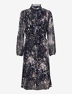 LillySZ Dress - everyday dresses - blue deep flower firework