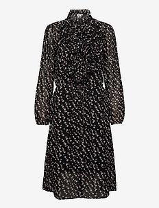 LillySZ Dress - skjortklänningar - black star
