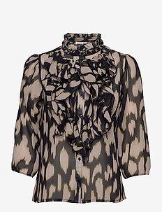 LillySZ 3,4 Shirt - blouses met lange mouwen - blue deep animal skin