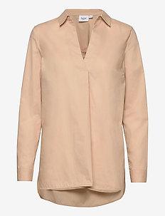 BrendaSZ LS Shirt - langärmlige hemden - pebble
