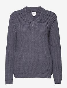 CaiaSZ LS Pullover - trøjer - ombre blue