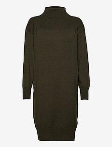 CasandraSZ LS Dress - strikkede kjoler - army green melange