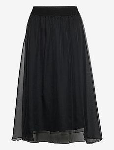 CoralSZ Skirt - spódnice do kolan i midi - black
