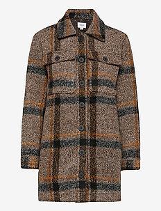 TayjaSZ LS Jacket - wool jackets - dark earth