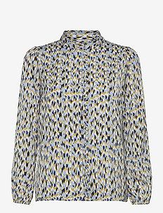 UikkiSZ LS Shirt - ASHLEY BLUE MAUNTAIN HEIGH