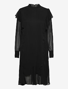 DinahSZ LS Dress - midiklänningar - black
