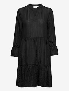 DayaSZ LS Dress - midi kjoler - black