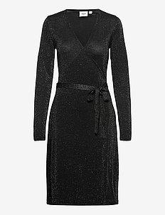 DubbiSZ LS Dress - midiklänningar - black