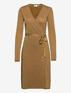 DubbiSZ LS Dress - omlottklänning - bronze brown