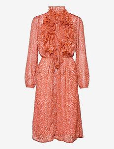 XelinaSZ Lilly Dress - cocktailklänningar - red orange puff sky
