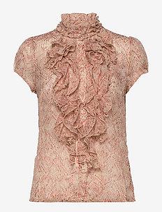 XenyaSZ Lilly SS Shirt - lyhythihaiset puserot - smoke indian batik