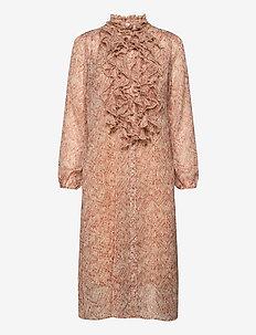 XenyaSZ Lilly Dress - midi-kleider - smoke indian batik