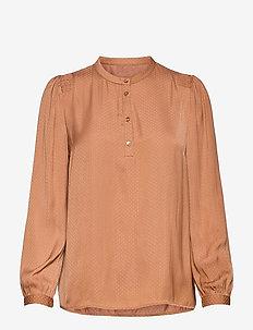 EsraSZ Shirt - blouses med lange mouwen - pecan brown