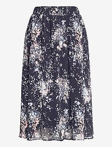 FlorenceSZ Skirt - midi skirts - blue deep flower firework