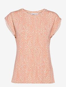 FadeliaSZ T-Shirt - t-shirts - terra cotta zig zebra