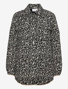 DagmarSZ Quilt Jacket - quiltede jakker - black reef florals