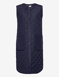 DiaraSZ Long Vest - puffer vests - blue deep