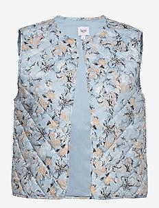 EviSZ Quilt Vest - puffer vests - celestial paisly dust