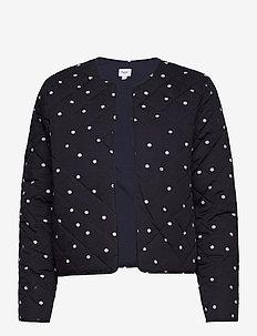 EviSZ Quilt Jacket - quilted jassen - blue deep floral dot