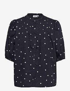 EaSZ Shirt - kortärmade blusar - blue deep floral dot