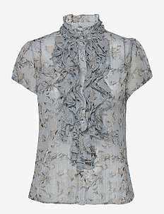 EdilSZ Lilly SS Shirt - kortærmede bluser - celestial paisly dust