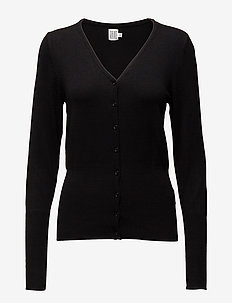 L/S CARDIGAN V-NECK - vesten - black