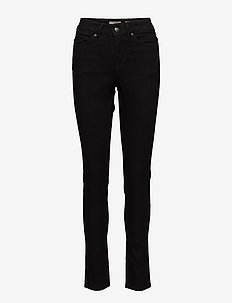 FLY,BLK, HIGH WST,SLIM FIT - jeans skinny - black