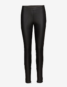 FAUX LEATHER LEGGINGS - læderbukser - black