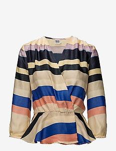 MULTI STRIPED TOP - blouses lange mouwen - marina