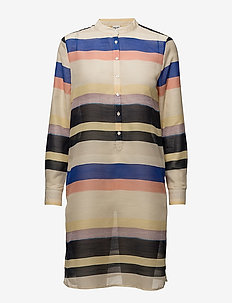 MULTI STRIPED TUNIC SHIRT - tuniken - marina