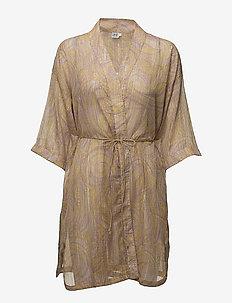 PAISLEY PRINT KIMONO - kimono's - n. lilac