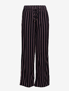 STRIPED PANTS WITH SLITS - pantalons larges - bl deep