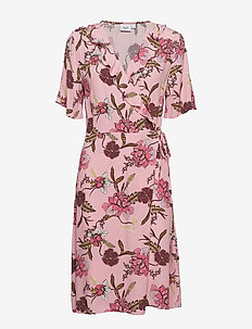 WOVEN DRESS OVER KNEE - A.PINK