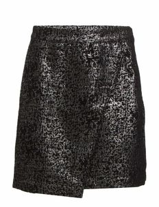 ASYMETRIC WRAP SKIRT - SILVER