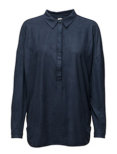 FAUX SUEDE SHIRT - BL DEEP