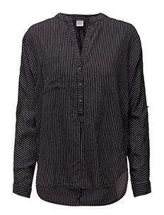 STRIPED SHIRT W POCKET - BL DEEP