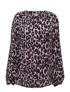 ANIMAL PRINTED BLOUSE - B.LILAC