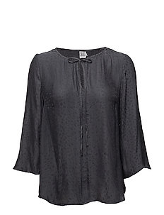 BLOUSE  W FLARED SLEEVES - PHANTOM