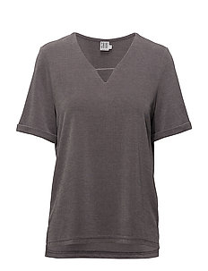 T-SHIRT W. V NECK - P.GREY